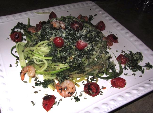 zucchini noodles kale pesto